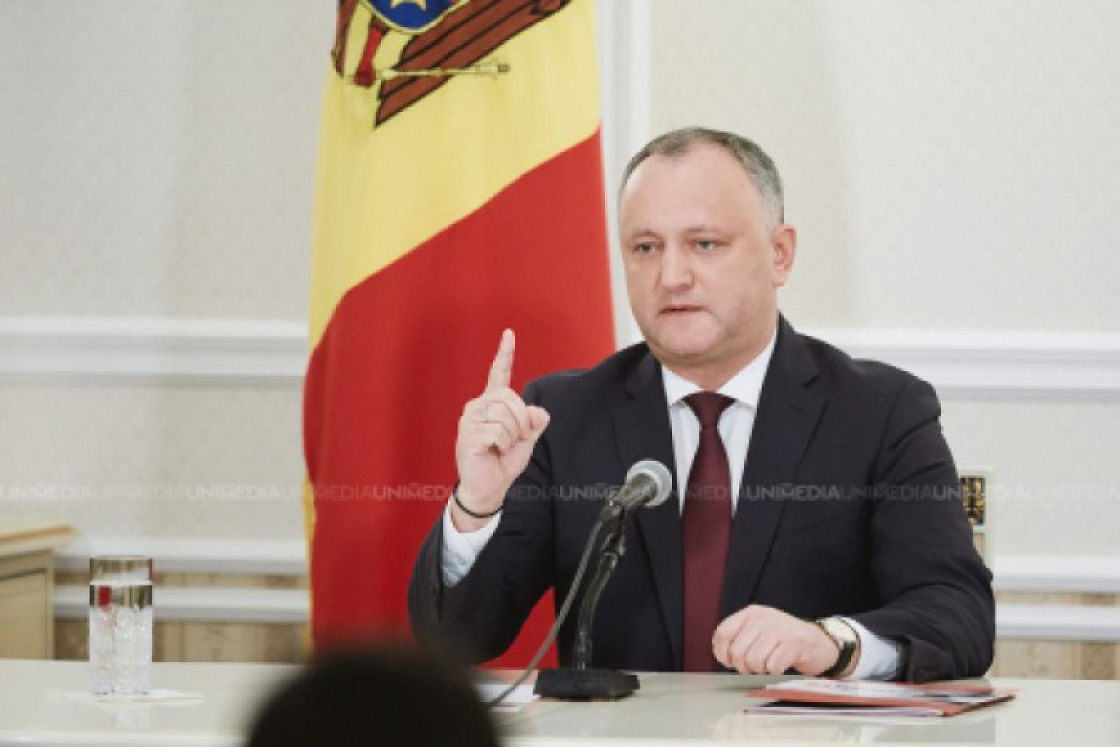 """Igor Dodon, despre Declarația care condamnă """"atacurile Rusiei la securitatea Republicii Moldova"""": Este """"un suicid politic și electoral"""""""