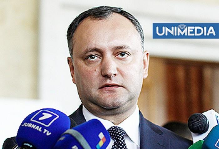 Igor Dodon: Maria Postoico, posibil candidat la funcţia de preşedinte al Parlamentului