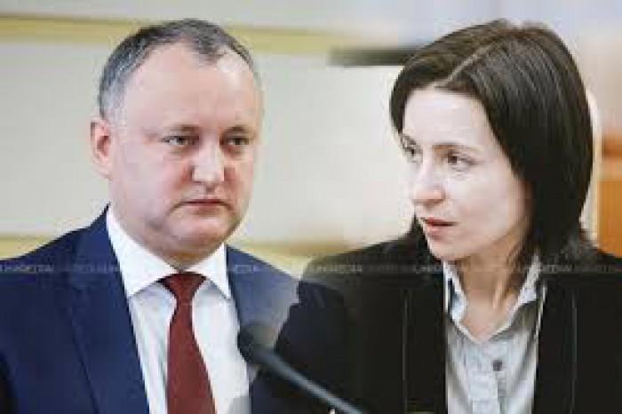 Igor Dodon și Maia Sandu, lideri în topul preferințelor pentru scrutinul prezidențial