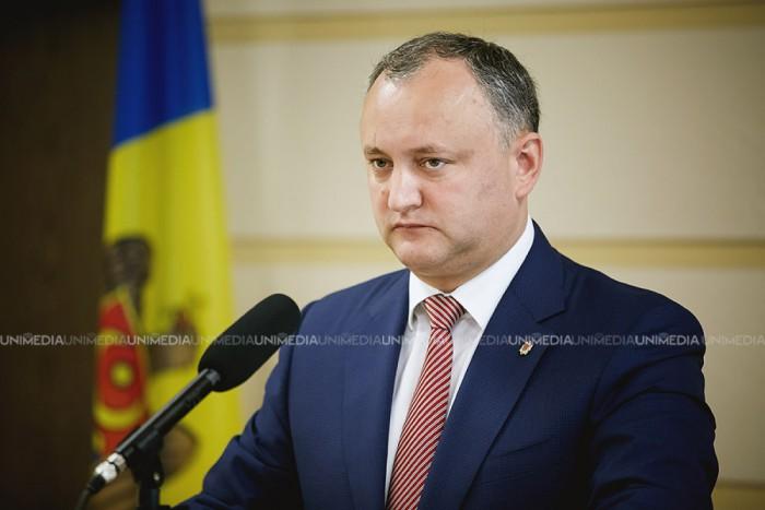 Igor Dodon: Sper că până în vară, Moldova va primi statutul de observator în Comunitatea Economică Eurasiatică