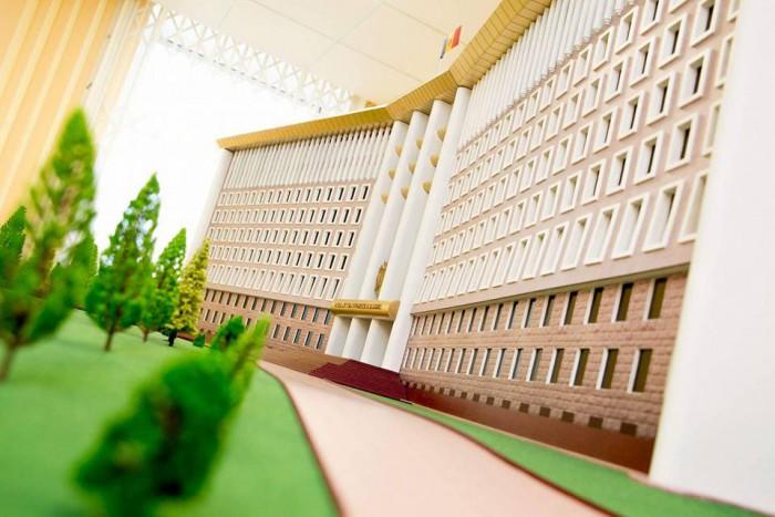Imaginea zilei: Parlamentul Republicii Moldova, în miniatură