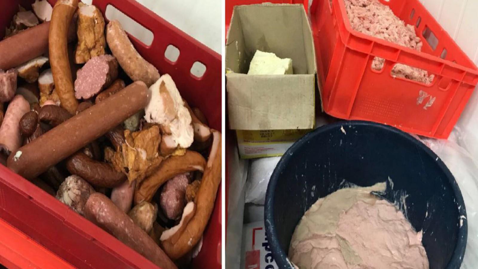 (foto) Imagini din depozitul unui producător de mezeluri: Ilustrează condițiile de păstrare a produselor