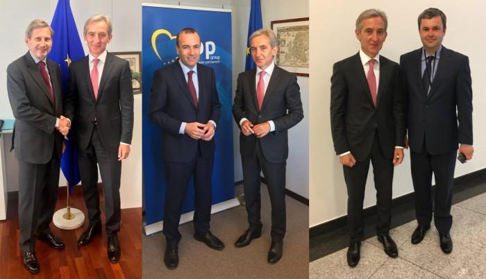 """Iurie Leancă se află în prima sa vizită în calitate de vicepreședinte al Parlamentului. """"După o perioadă de aproape doi ani - am revenit la Bruxelles"""""""