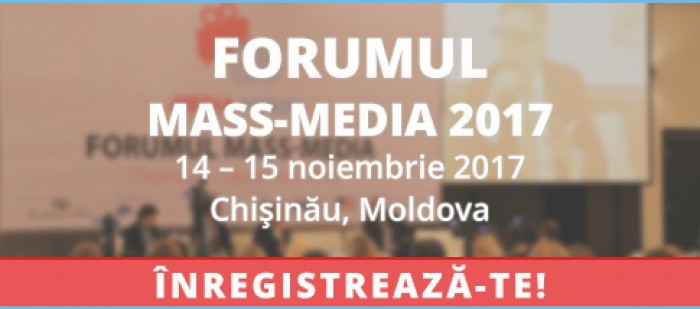 Jurnaliștii, editorii și managerii media sunt invitați la Forumul mass-media 2017