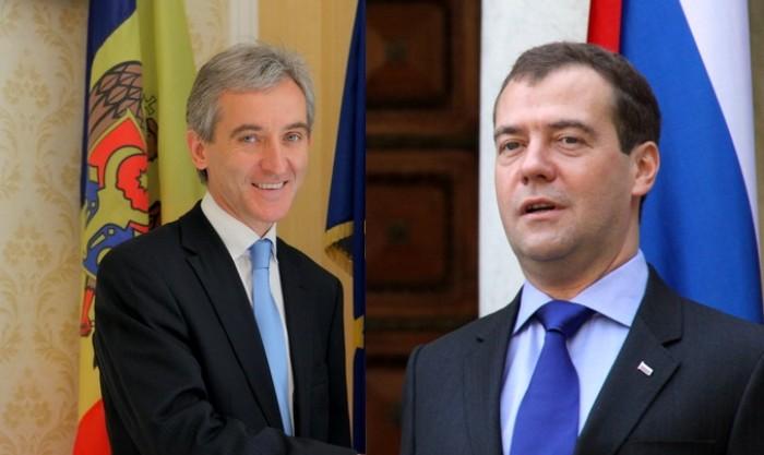 Leancă a discutat cu Medvedev despre reluarea exporturilor de vinuri pe piața rusă