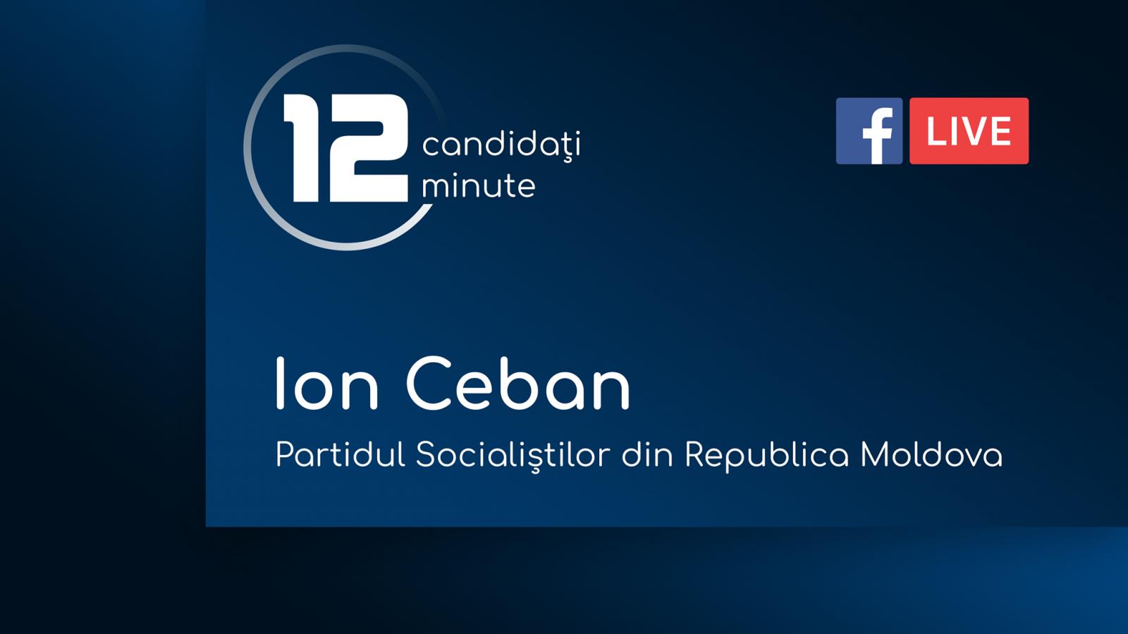 (video) 12 minute pentru Chișinău: Interviu cu Ion Ceban, candidat din partea Partidului Socialiștilor