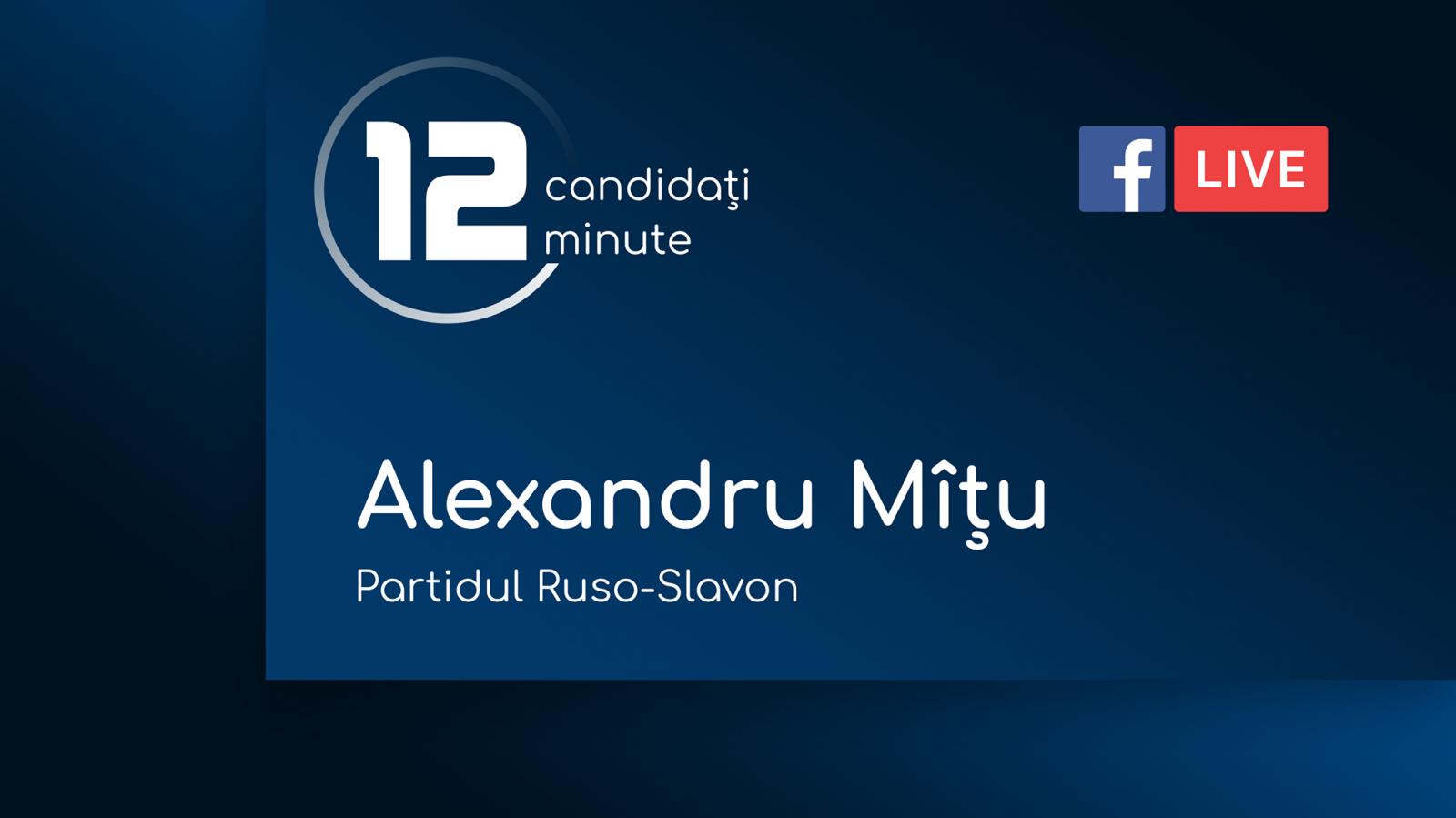 (video) 12 pentru Chișinău: Interviu cu Alexandru Mîțu, candidat din partea Partidului Ruso-Slavean
