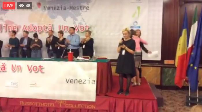(doc/video) A doua zi a Offline-ului comunității Adoptă un Vot. Diaspora se opune implementării votului uninominal