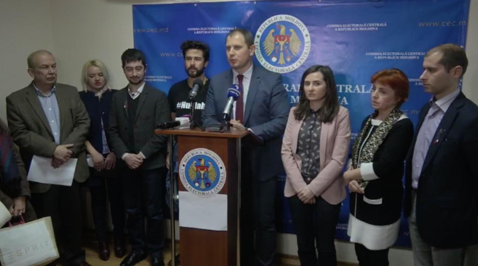 (video) Declarațiile grupului de inițiativă, după decizia CEC de a respinge cererea de înregistrare