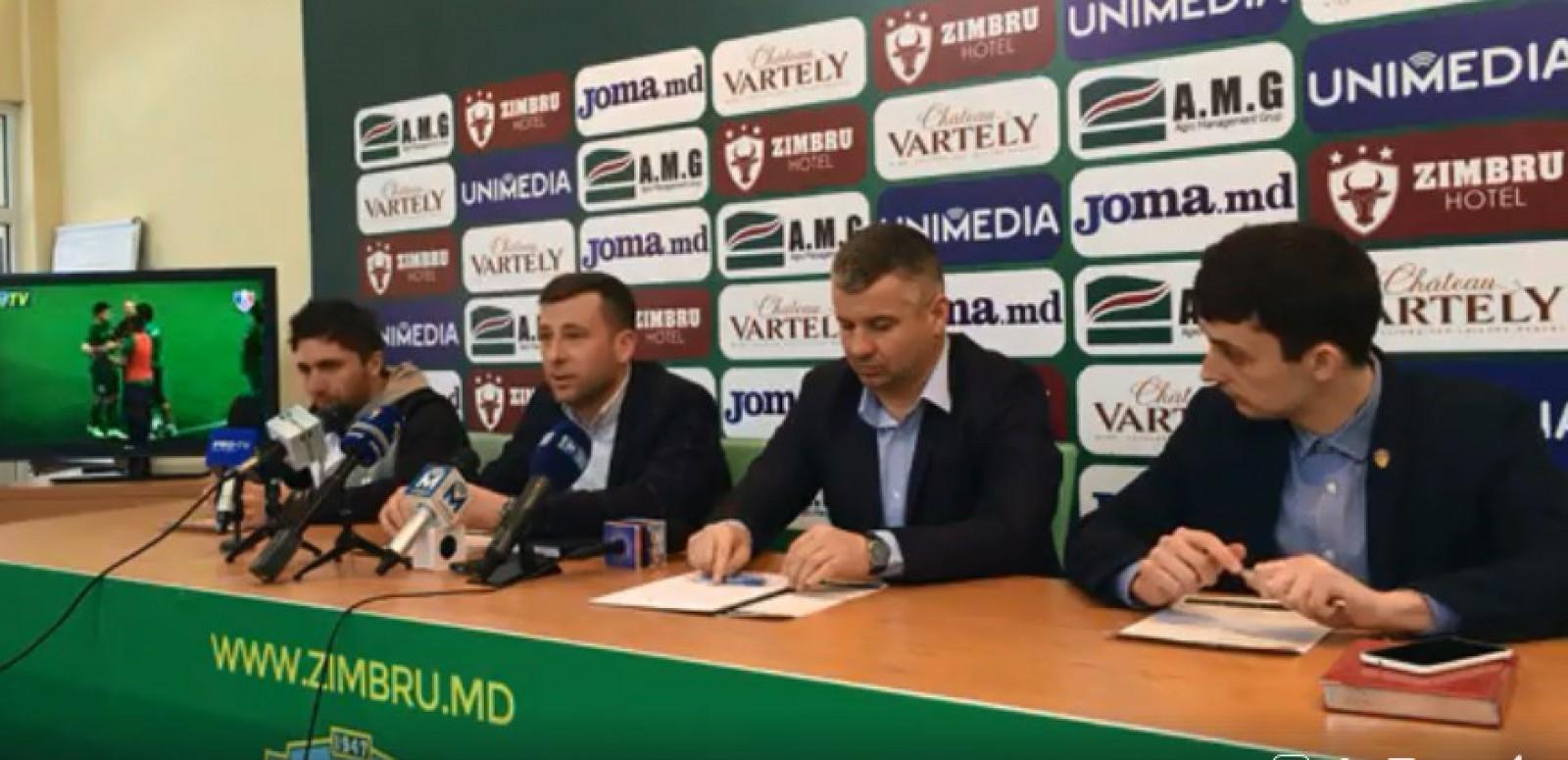 (video) Conferința de presă susținută de FC Zimbru