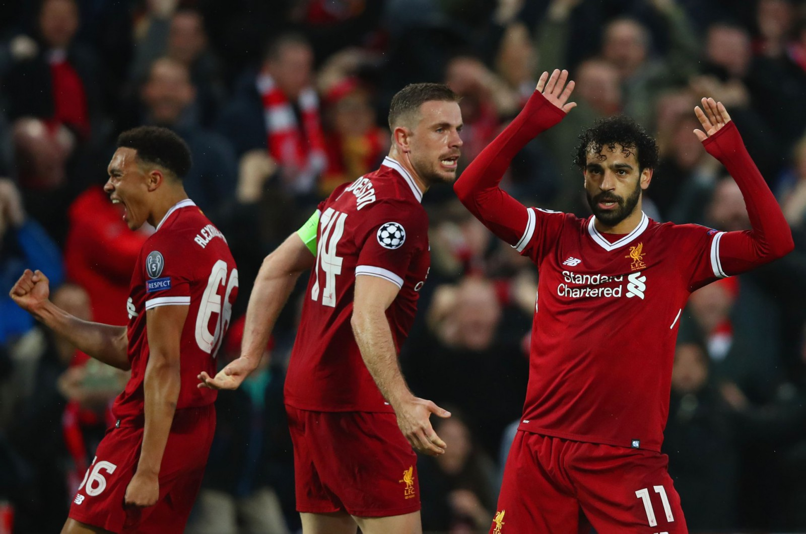 Liverpool 5-2 AS Roma: Mohamed Salah a avut o prestație fenomenală pe Anfield