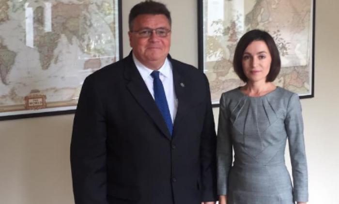 Maia Sandu s-a întâlnit cu ministrul de Externe al Lituaniei. Despre ce au discutat