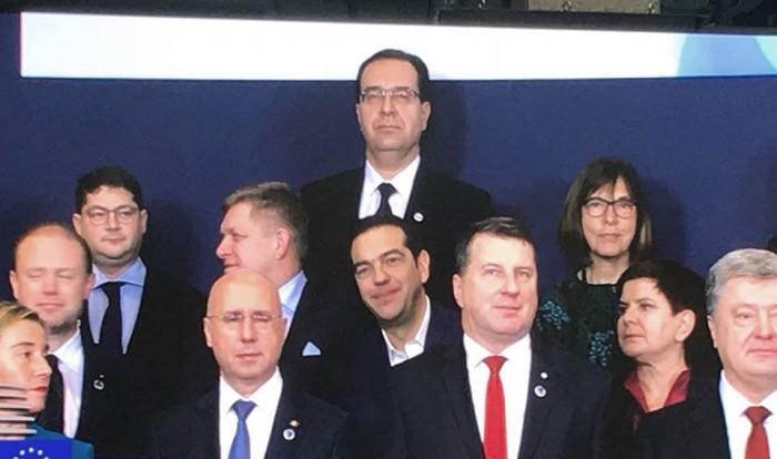 (foto/video) Marian Lupu, surprins la poza de grup a Summitului Parteneriatului Estic de la Bruxelles