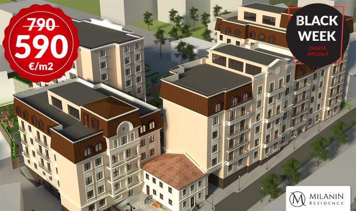 Milanin Residence anunță BLACK WEEK! Ultimile apartamente de la 590 Euro/m2