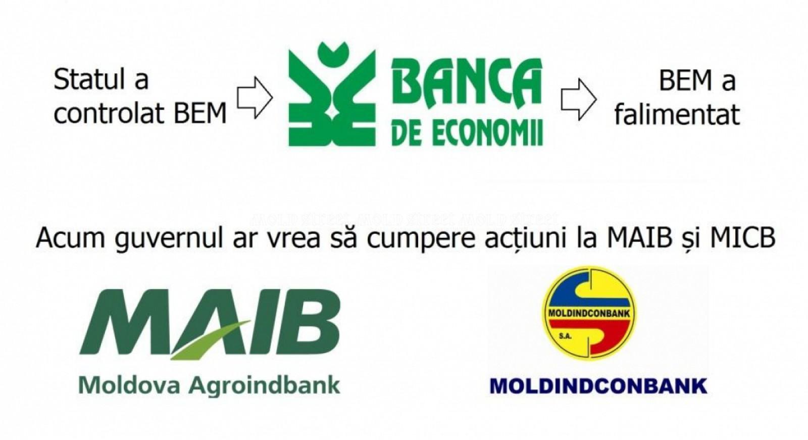 Mold-street: Guvernul se pregăteşte de cumpărarea pachetelor de acţiuni la cele mai mari bănci din Moldova