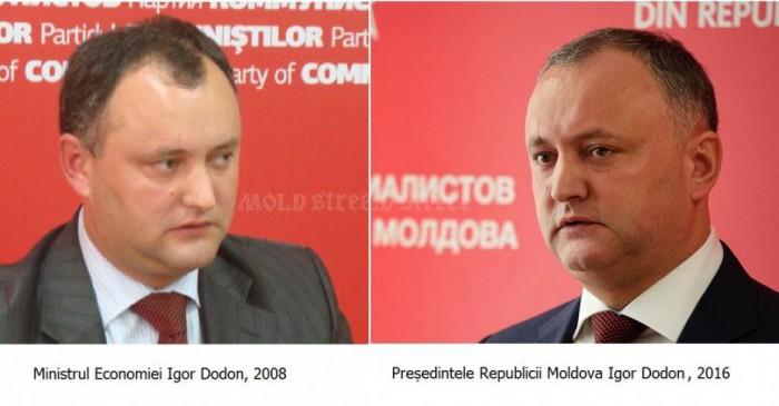 Mold-street: Ministrul Economiei Dodon din 2007 îl contrazice pe președintele Dodon din 2017