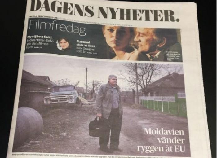 Moldova pe prima pagină a unui ziar din Suedia: Cea mai săracă țară din Europa a întors spatele UE