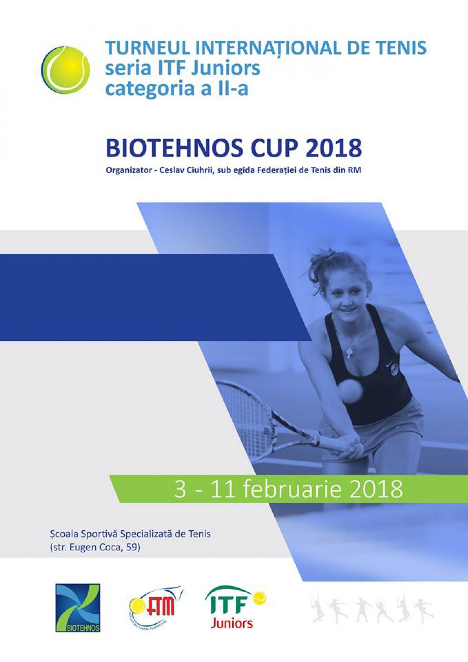 """Moldova va fi reprezentată de 7 jucători de tenis la turneul internațional """"Biotehnos Cup 2018"""""""