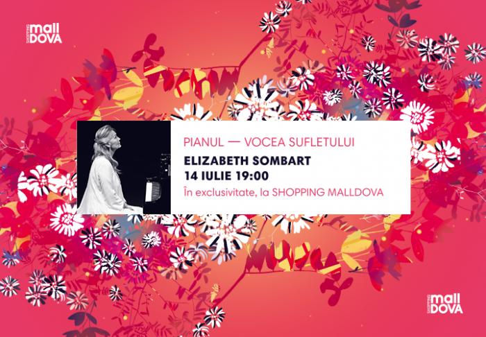 O seară de pian cu Elizabeth Sombart în exclusivitate la Shopping MallDova