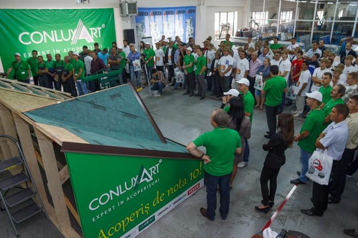 """(foto, video) Grupul de companii Roofart şi Conluxart au lansat campania """"Un acoperiş de nota 10"""""""