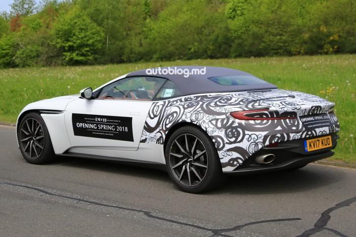 Poze spion: Noul Aston Martin DB11 Volante va fi prezentat până la sfârşit de an