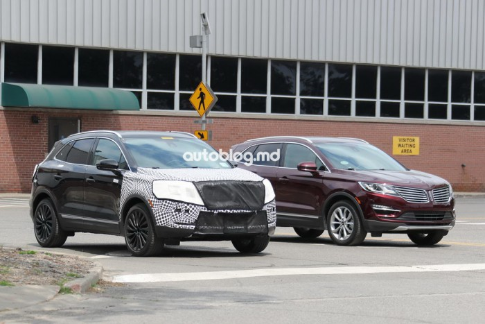Poze spion: SUV-ul de lux Lincoln MKC facelift va fi lansat în acest an