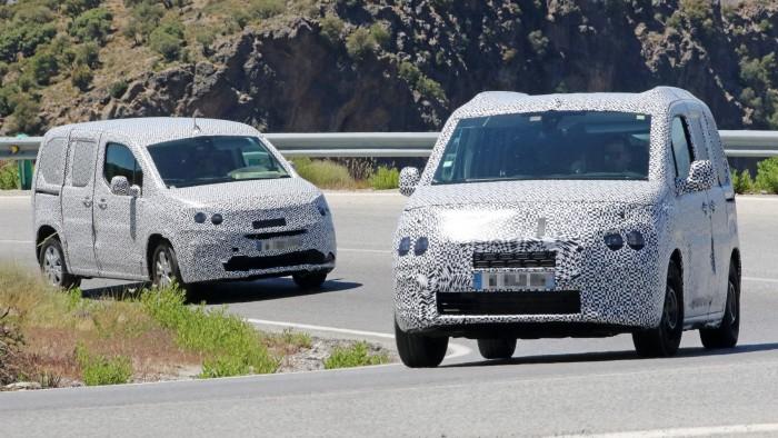 Poze spion: Utilitarele Peugeot Partner şi Citroen Berlingo îşi vor schimba curând generaţia