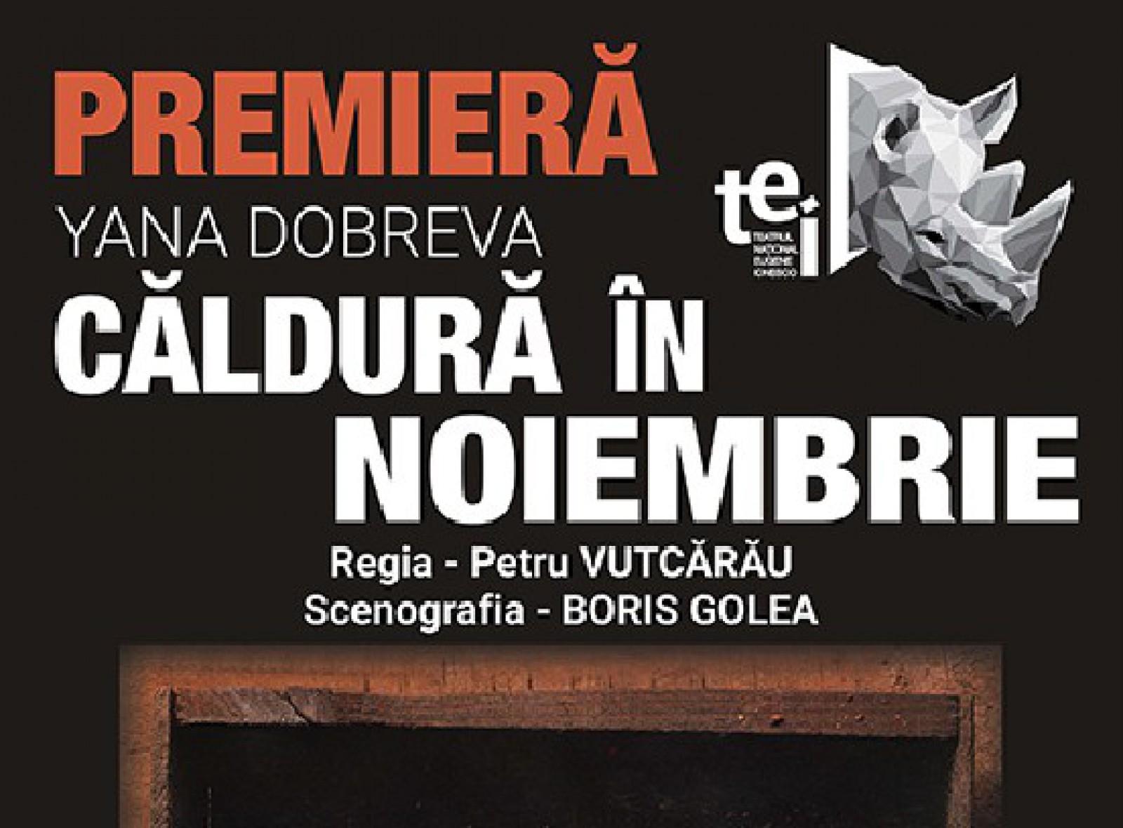 """""""Căldură în noiembrie"""" - o nouă premieră pe scena Teatrului Național """"Eugene Ionesco"""""""