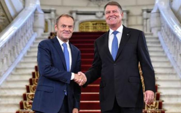 Președintele Consiliului European s-a întâlnit cu Klaus Iohannis la Palatul Cotroceni