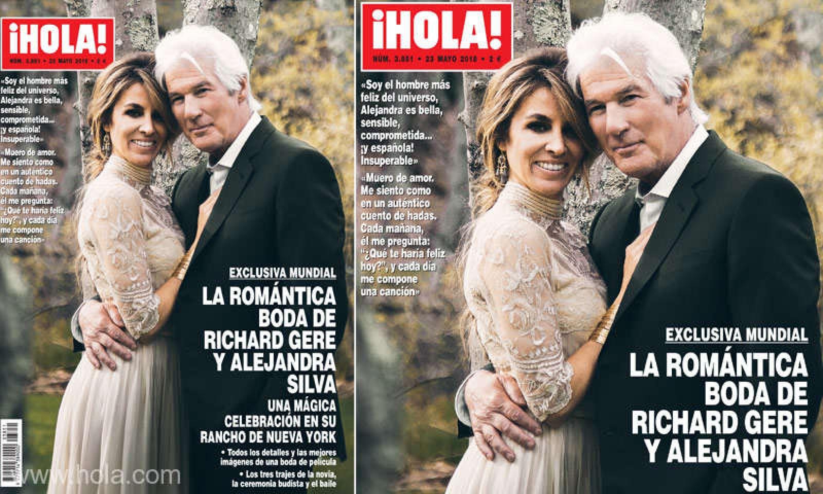 Primele imagini de la căsătoria lui Richard Gere cu Alejandra Silva