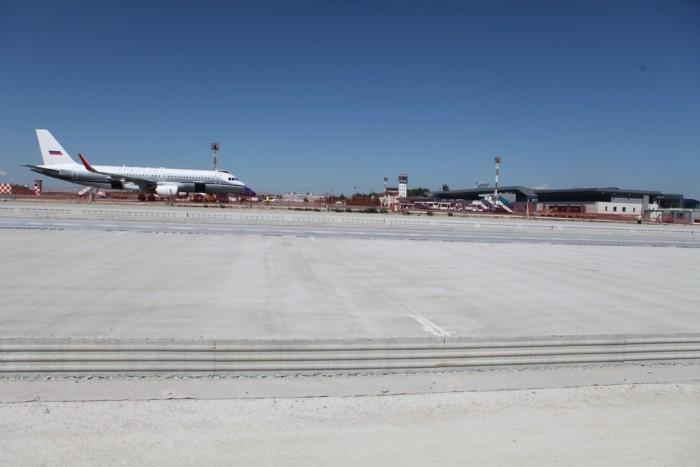(foto) Primul segment al peronului Aeroportului Chișinău a fost finalizat