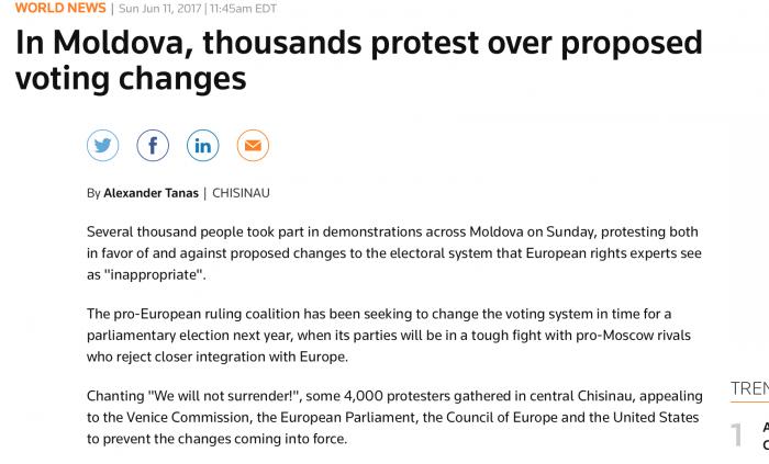 Protestele din Moldova au devenit subiect de știre și pentru presa străină. Ce a scris Reuters