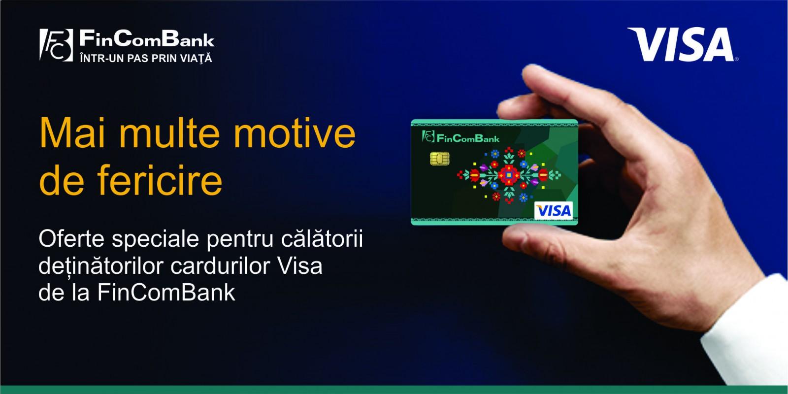 Reduceri la cumpărăturile achitate cu cardul VISA, grație unui program lansat în premieră de FinComBank