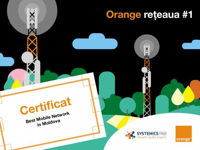 Reţeaua Orange este cea mai avansată din Moldova
