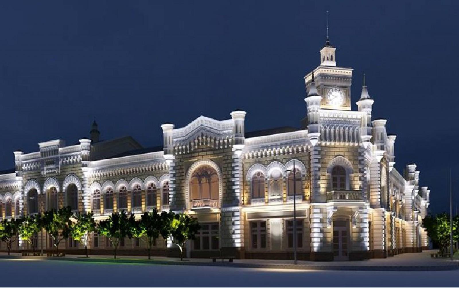 (schiță) Cum ar arăta clădirea Primăriei Chișinău iluminată artistic