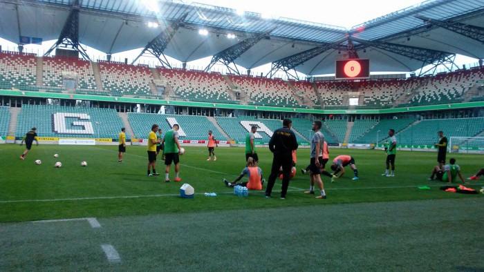 Sheriff Tiraspol a desfășurat antrenamentul oficial în ajunul partidei cu Legia Varșovia din play-off-ul Ligii Europa
