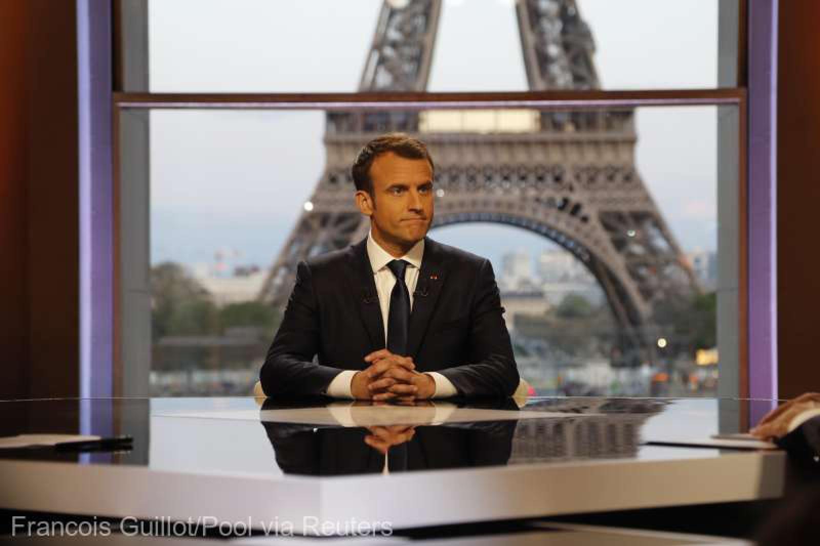 """Siria: Macron laudă succesul loviturilor aeriene şi susţine că l-a """"convins"""