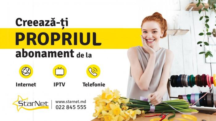"""Starnet lansează noua campanie de toamnă: """"Crează-ți propriul abonament de la 170 lei"""""""