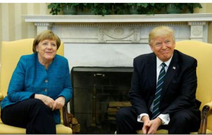 Stop Cadru: Donald Trump, refuză să se strângă de mână cu Angela Merkel în timpul primei lor întâlniri