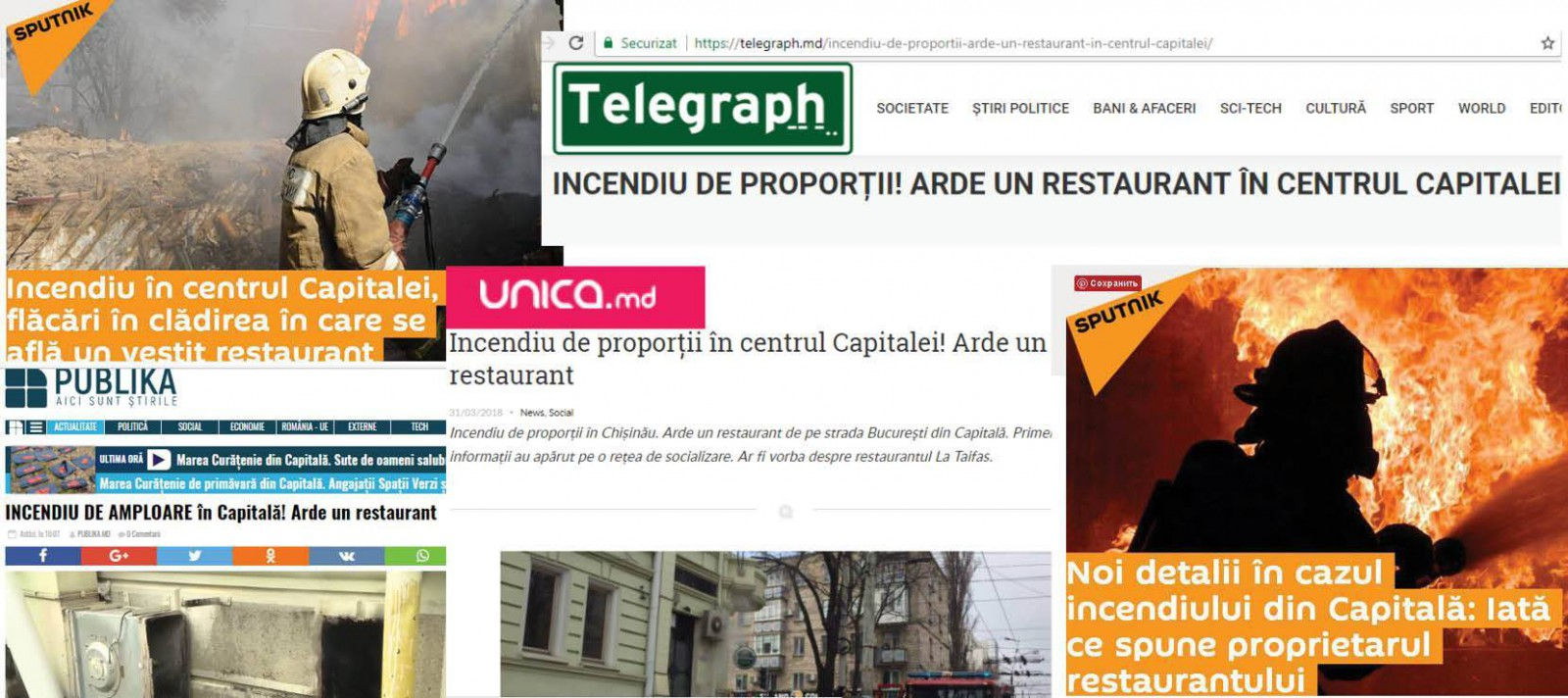 """Stop Fals: """"Incendiul de proporţii"""" în restaurantul """"La Taifas"""" s-a produs din cauza... greşelilor de proporţii ale jurnaliştilor"""
