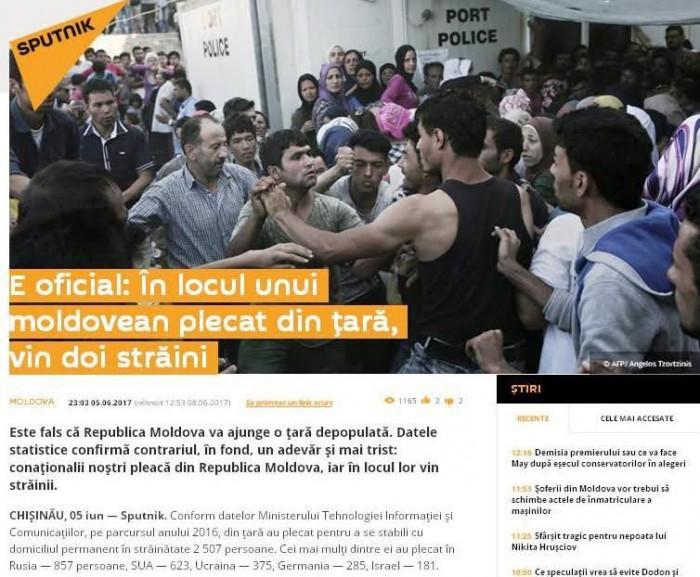 Stop fals: Portalul Sputnik.md, acuzat de speculații jurnalistice ce contrazic datele oficiale privind imigranții în Moldova