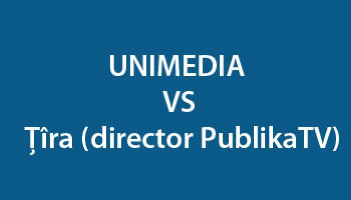 TIMELINE: UNIMEDIA VS directorul PublikaTV, Dumitru Țîra