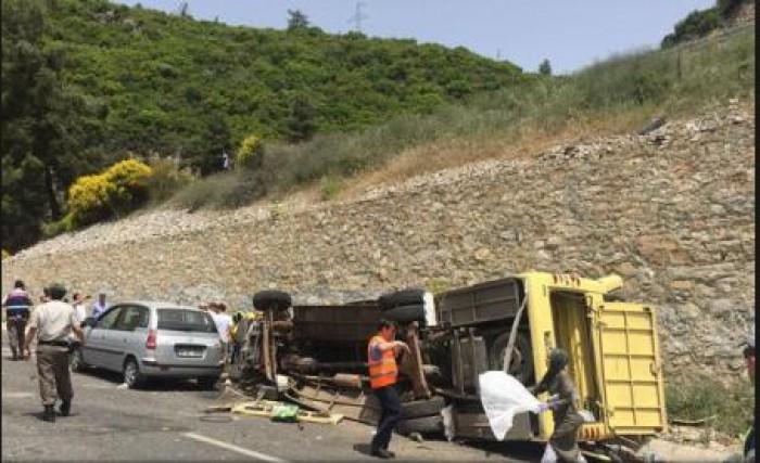 Turcia: 18 turiști ucraineni au fost răniți după ce autocarul în care se aflau s-a răsturnat