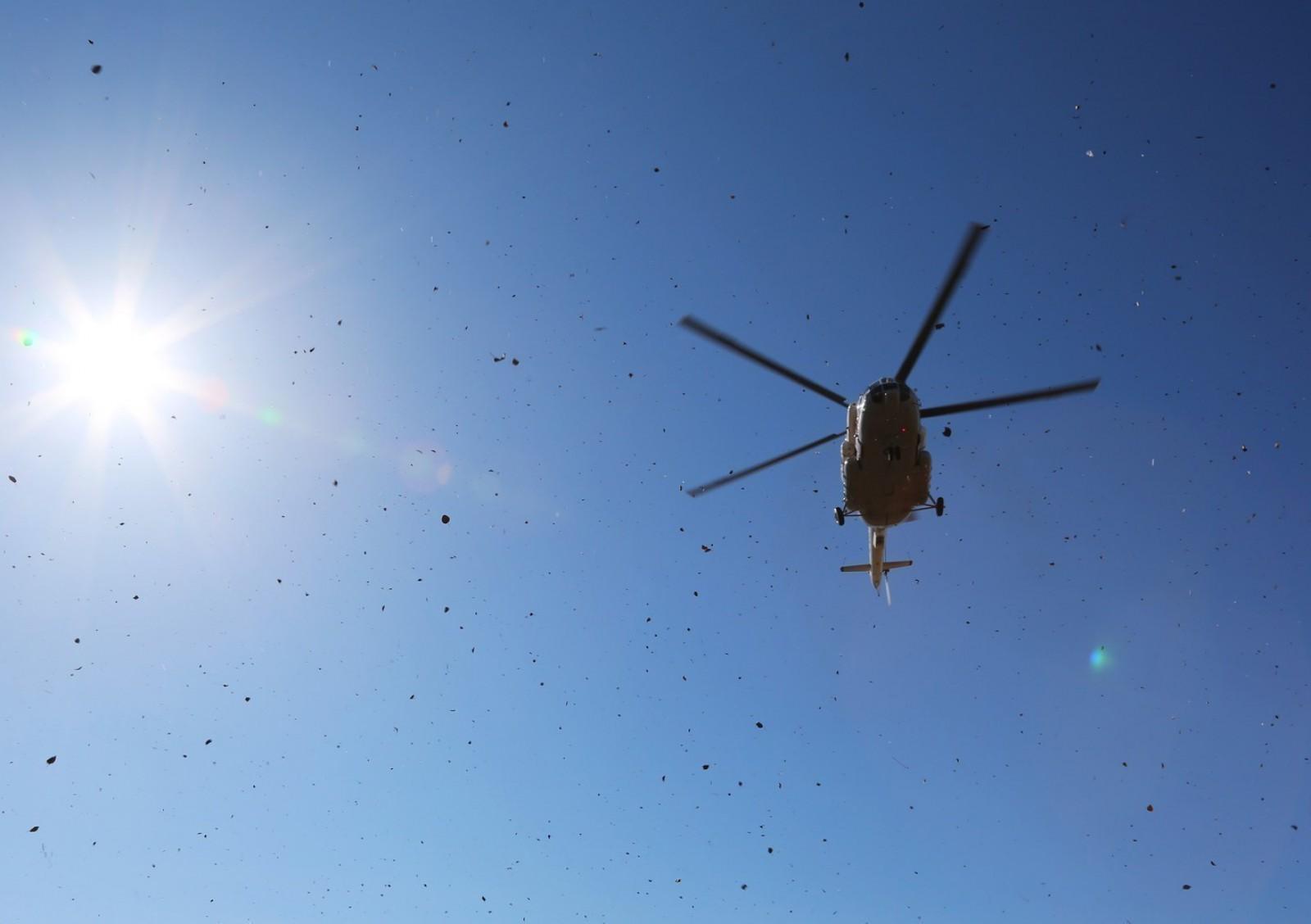 Un nou accident aviatic în Rusia: Un elicopter de tip MI-8 a luat foc