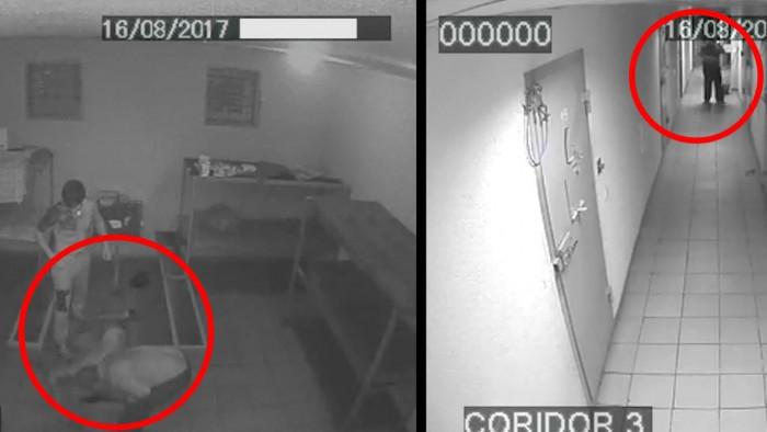 (video +18) Noi imagini cu Andrei Braguța, bătut violent de colegii de celulă. Trei poliţişti şi patru deţinuţi, trimişi în judecată