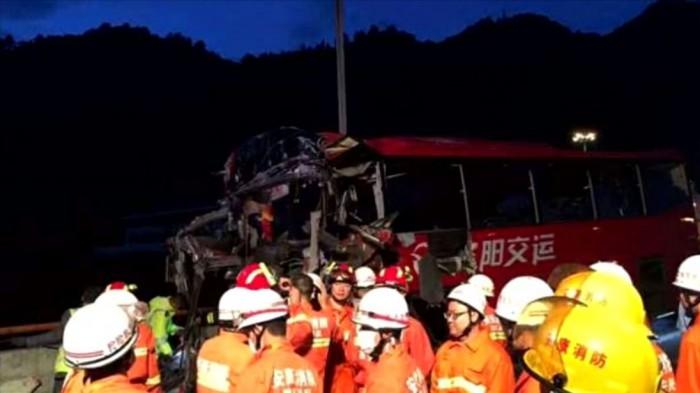 (video) Accident devastator în China: 36 de oameni au murit, iar alți 13 au fost răniți