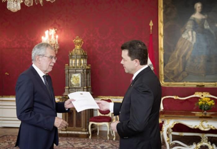 (video) Victor Osipov  a participat la ceremonia deosebită de acreditare a Ambasadorilor la Viena