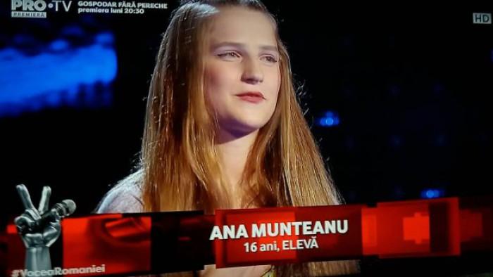 """(video) Basarabeanca Ana Munteanu a făcut furori la """"Vocea României"""". Smiley: """"Dacă nu vii în echipa mea, o să plâng"""""""