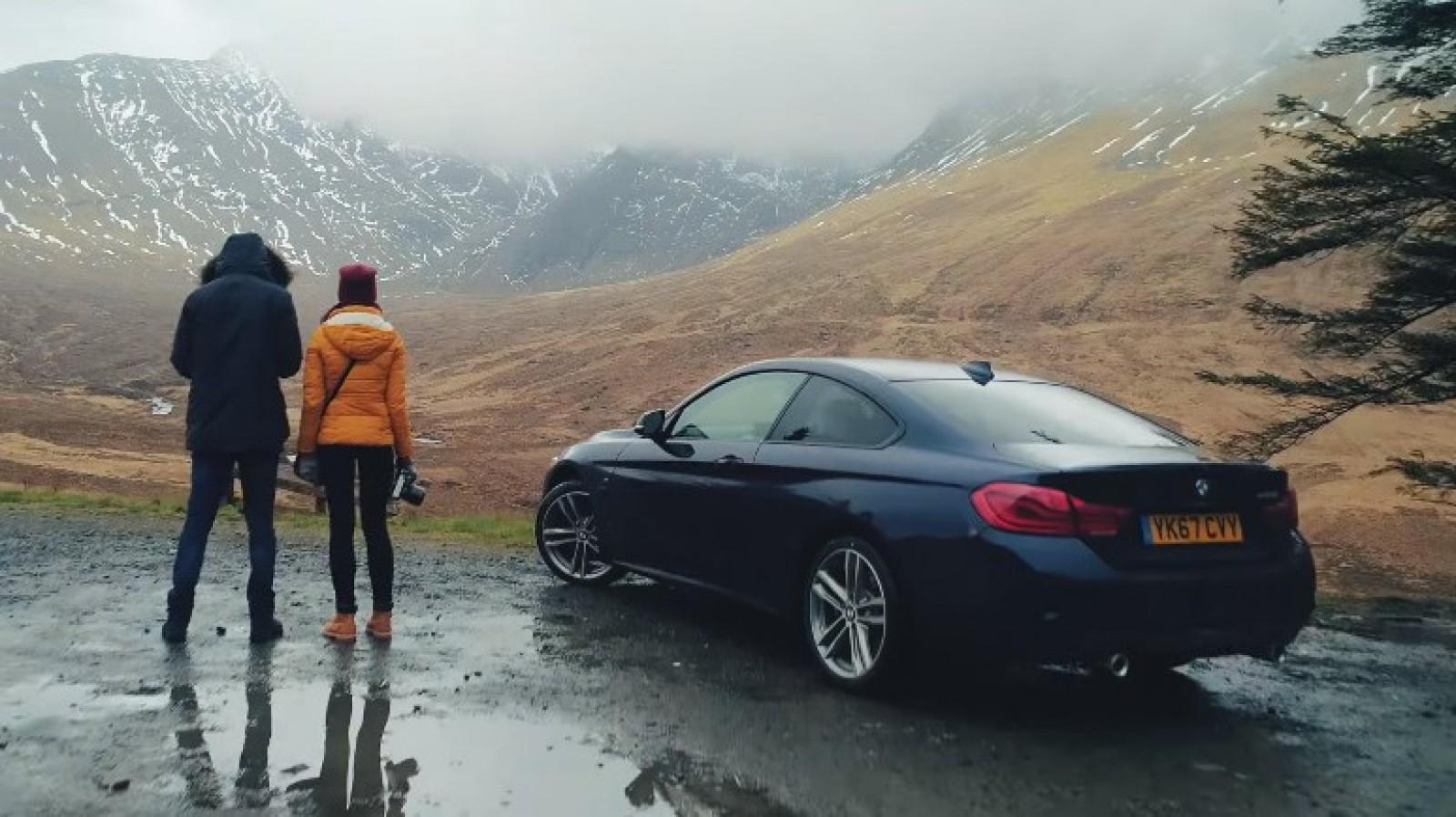(video) Camere + dronă + BMW. Combinaţia ideală pentru călătoria unui cuplu de moldoveni în Scoţia