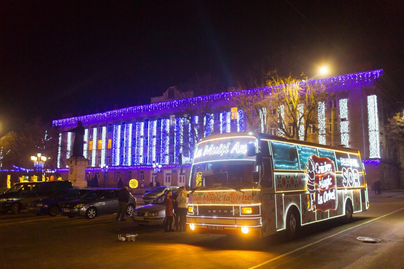 (video) Caravana de Crăciun a partidului ȘOR a ajuns la Bălți